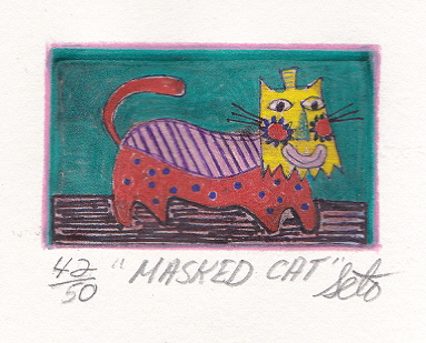 Masked Cat - by Benson Seto